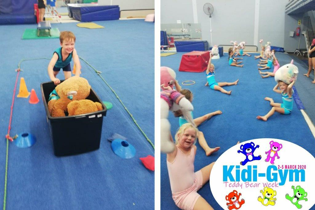 Wynland Gymnasts were asked to bring along their favourite soft toy to join in the gymnastics fun.