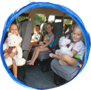 Wynland Kids Gymnastics Transport Bus Saftey buckled