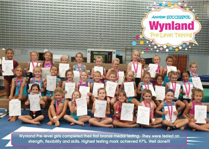 Wynland Gymnastics Pre-Level Testing
